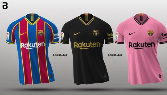 Las camisetas del FC Barcelona para la campaña 2020-21. (Foto: Footy Headlines)