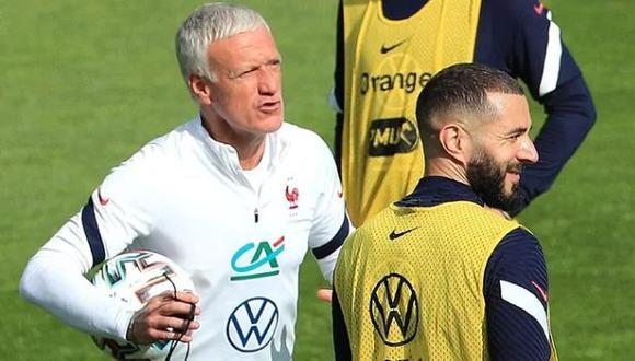 Didier Deschamps llamó a Francia a Karim Benzema luego de seis años. (Foto: EFE)