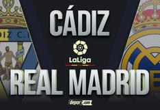 DIRECTV, Real Madrid vs. Cádiz EN VIVO: minuto a minuto del partido por LaLiga