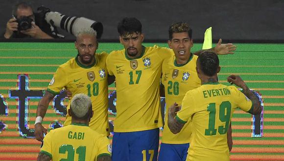 Brasil se quedó con la victorias gracias a un polémico gol de Firmino y un agónico tanto de Casemiro sobre el final. (Foto: AFP)