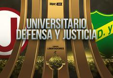 Universitario vs. Defensa y Justicia EN VIVO: canales de TV por la Libertadores 2021