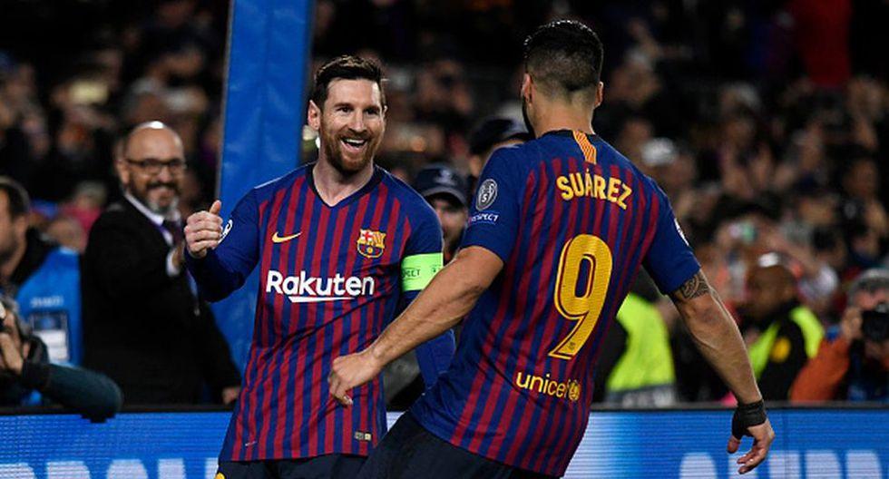 Messi y Suárez serán titulares en el Barcelona vs Manchester United de este martes. (Getty)