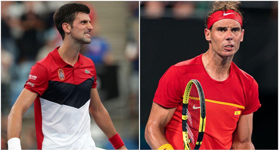 Novak Djokovic y Rafael Nadal avanzaron con sus respectivos países a las semifinales de la ATP Cup. (Getty Images)