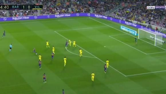 El gol de Arthur en el Barcelona-Villarreal en LaLiga. (Video: beIN Sports)