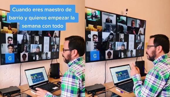 Un video viral protagonizado por un maestro y su forma de interactuar con sus alumnos en las clases virtuales desata reacciones de todo tipo en Internet. | Crédito: @rubioguardado13 / TikTok.