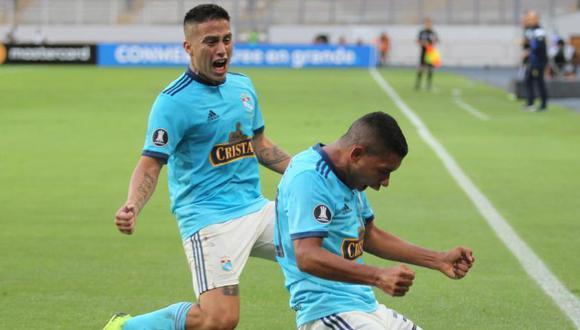 Cristian Ortiz y Cristian Palacios serán claves en el accionar de los celestes. (GEC)