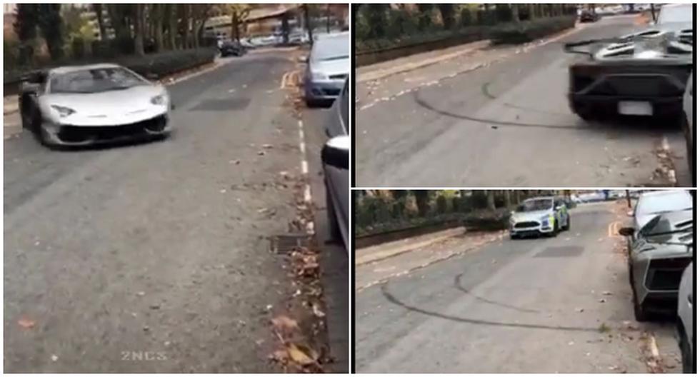 Auto Lamborghini realizó espectacular maniobra para eludir a la policía. (Tik Tok)