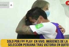 Sobraron las palabras: el abrazo interminable entre Lapadula y Gareca tras victoria en Quito [VIDEO]