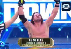 ¡Es fenomenal! AJ Styles avanzó a las 'semis' del torneo que coronará al nuevo campeón intercontinental [VIDEO]