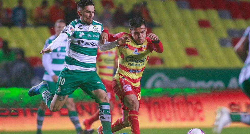 Con gol y asistencia de Flores: Monarcas Morelia y Santos Laguna empataron en Morelos por fecha 15 de Liga MX. (Getty)