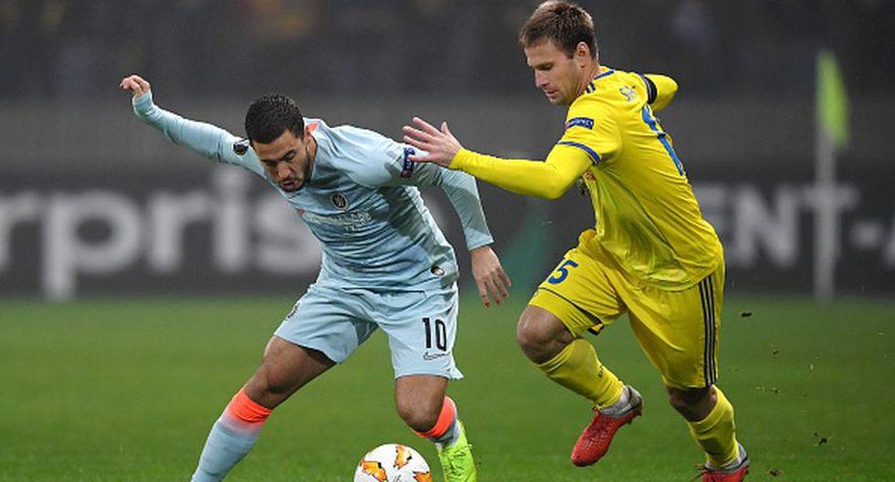 Chelsea vs. BATE Borisov por la fecha 4 del Grupo L de Europa League 2018. (Getty)