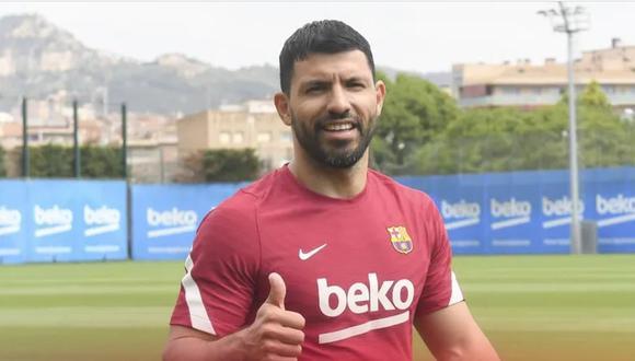 Agüero llegó al Barcelona desde el Manchester City en calidad de jugador libre. (Foto: FC Barcelona.com)