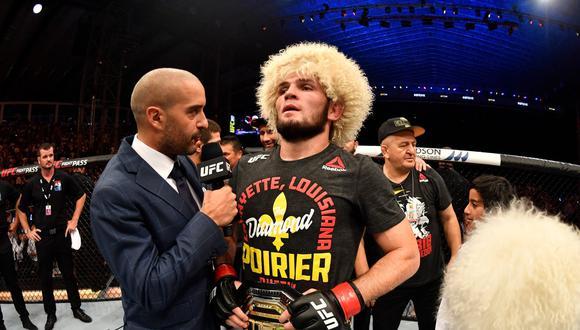 """Khabib listo para dejar el título de UFC: """"No me gusta que la división esté estancada"""". (UFC)"""