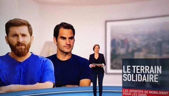 Lionel Messi fue confundido con su doble en la TV francesa.