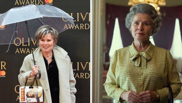 """Imelda Staunton será la tercera versión de la Reina Isabel II en la polémica serie """"The Crown"""". (Foto: Anthony Harvey / AFP Instagram @thecrownnetflix)"""