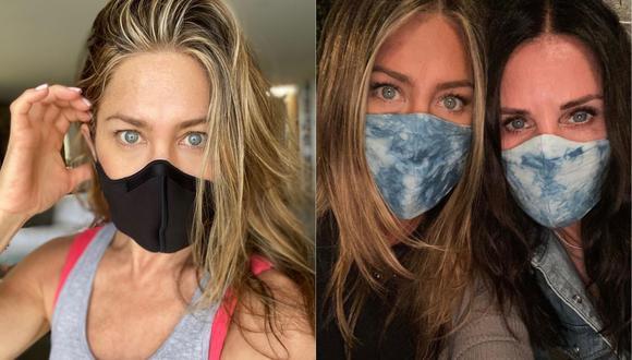 Jennifer Aniston pide el uso responsable de las mascarillas en tiempos de COVID-19. (Foto: Instagram @jenniferaniston)