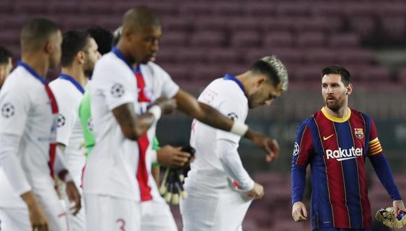Barcelona vs. PSG en Camp Nou por los octavos de final de la Champions League. (Foto: AFP)