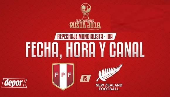 Perú recibirá a Nueva Zelanda en el Estadio Nacional. (FPF)