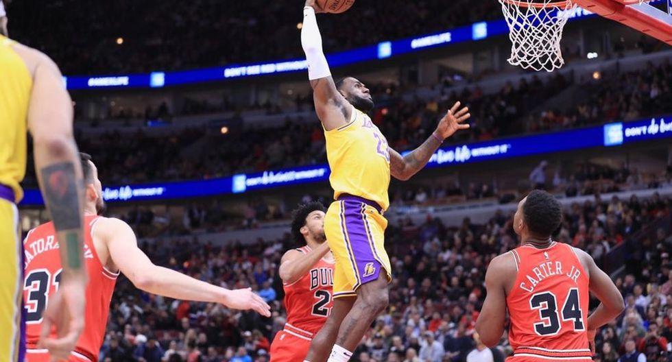 Los Angeles Lakers vencieron a los Chicago Bulls por 118-112 en el United Center. (Foto: Lakers)