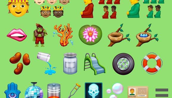 Los nuevos emojis estarán disponibles para los móviles con sistema operativo Android y iOS de iPhone (Foto: Emojipedia)