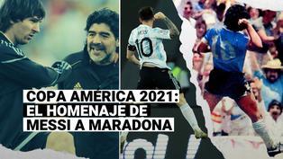 Con el salto de Maradona: Messi homenajeó a Diego en la Copa América 2021