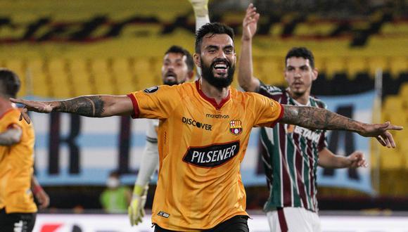 Gonzalo Mastriani anotó el gol del triunfo para Barcelona de Guayaquil. (Foto: Conmebol)
