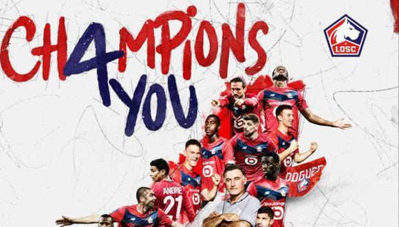 Lille se coronó campeón de Francia por cuarta vez en su historia. (Foto: Lille)