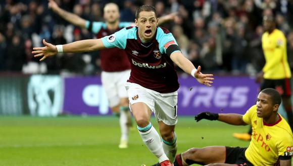 Chicharito Hernández candidato al gol del mes en West Ham (Foto: Getty Images).