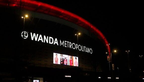 El Wanda Metropolitano rindió homenaje a los que luchan contra el coronavirus. (Foto: Atlético de Madrid)