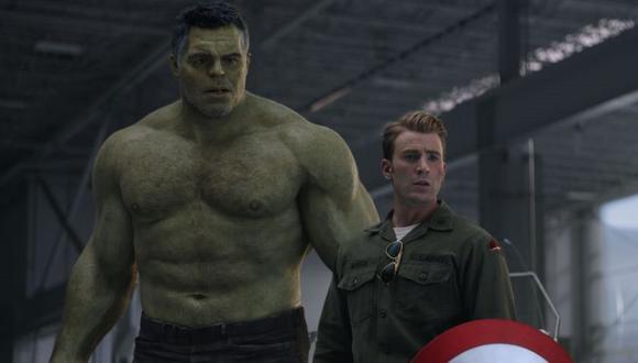 Hulk y Capitán América en Avengers: Endgame (Marvel)