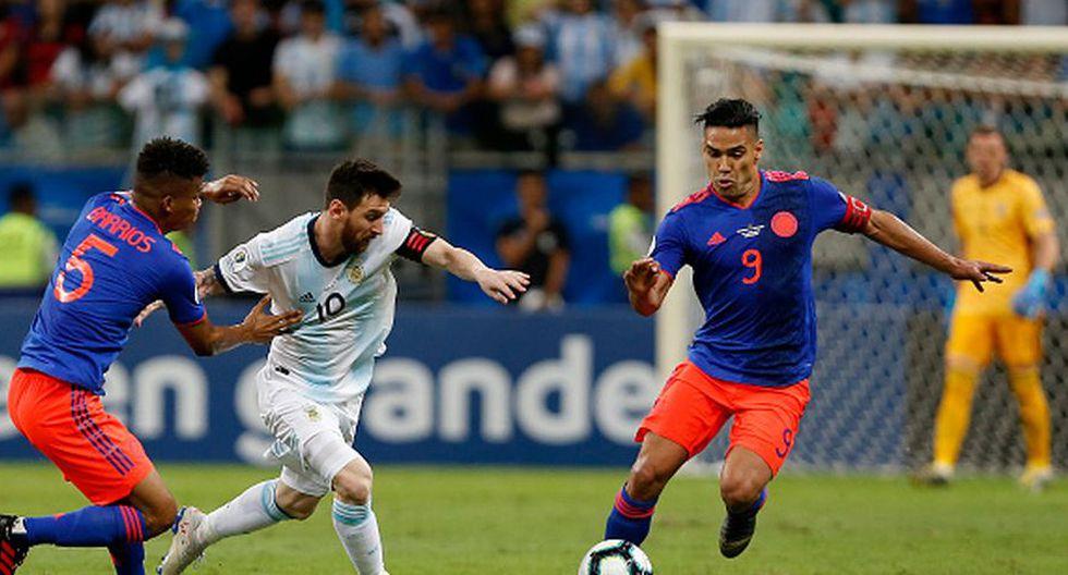 Argentina vs. Colombia EN VIVO vía TV Pública y Caracol TV juegan por inicio del Grupo B de Copa América. (Getty)