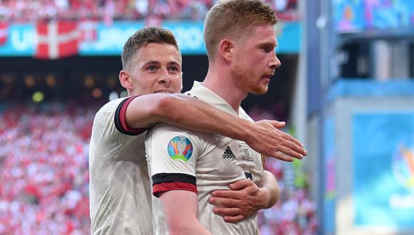 Bélgica venció a Dinamarca por la Eurocopa 2021. (Foto: AFP)