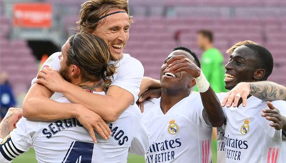 El Clásico de España lo ganó Real Madrid por 3-1 ante Barcelona. El partido se jugó en el Camp Nou y el equipo de Zidane consiguió tres puntos valiosos que le servirán en lo anímico. (Foto: AFP)