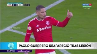 El regreso del capitán: Paolo Guerrero reapareció con el Inter de Brasil