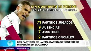 Los partidos de la era Gareca sin Guerrero ni Farfán