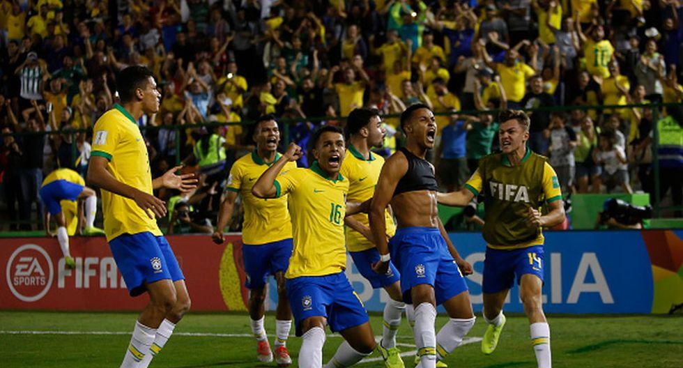 Brasil remonta en el último minuto a México y se proclama campeón del Mundial Sub 17. (Getty Images)