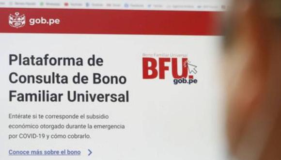 Desde el 10 de octubre se viene cobrando el Segundo Bono Universal Familiar de 760 soles. (Foto: Andina)
