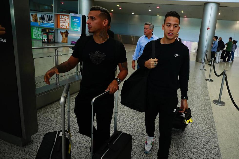 Selección Peruana: Miguel Trauco y Christian Benavente llegaron para sumarse a la concentración en Miami. (Fotos: Daniel Apuy)