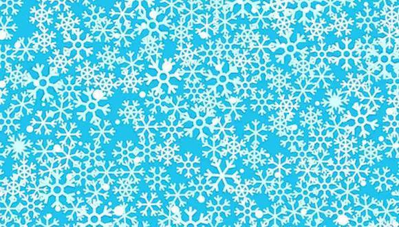 Ubica los 3 copos de nieve con centro de estrella en la imagen. (Foto: Noticieros Televisa)