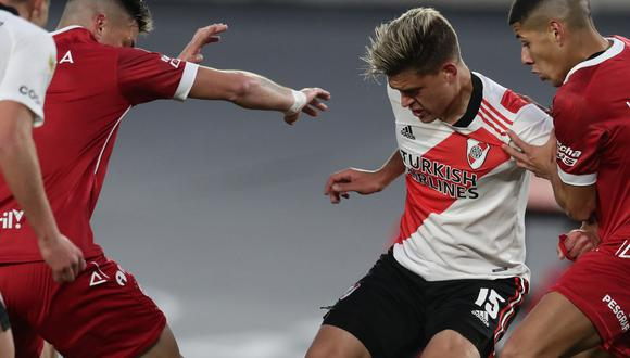 River Plate vs. Huracán por la fecha 4 de la Copa de la Liga Profesional. (Foto: AFP)