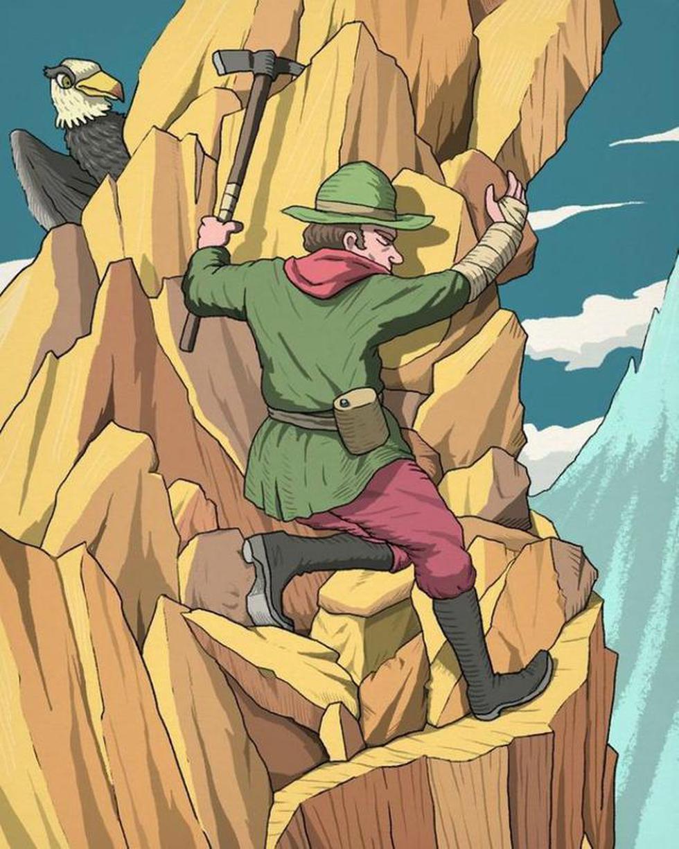 Ubica el rostro del otro montañero escondido en la imagen. (Difusión)