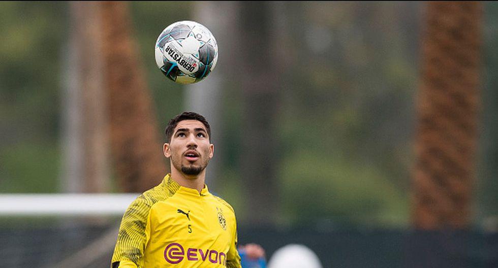 Achraf Hakimi juega cedido en el Dortmund desde el 2018. (Getty Images)