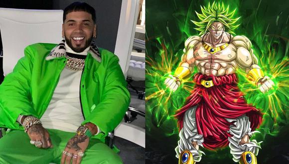"""Anuel AA aparece en Instagram con el cabello pintado de verde y se compara con Broly de """"Dragon Ball"""". (Foto: Instagram)"""
