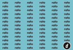 """Halla la palabra """"rata"""" en 15 segundos: solo el 1% resolvió este acertijo visual"""