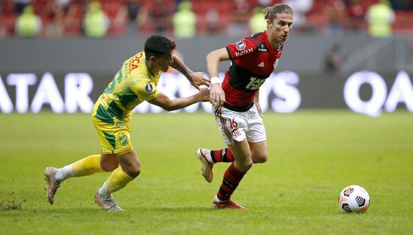 Flamengo goleó a Defensa y Justicia y avanzó a cuartos de final de la Copa Libertadores. (Foto: EFE)