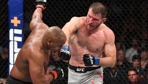 Stipe Miocic es el cuarto peleador en la historia de UFC en recuperar el título de peso pesado. (Couture, Sylvia, Velasquez). (Getty Images)