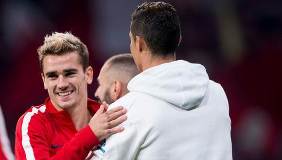 Antoine Griezmann y Cristiano Ronaldo ya fueron rivales en la Liga de España. (Getty)