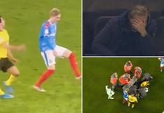 Su rostro lo dice todo: Erling Haaland y su reacción tras la espantosa lesión de Mateu Morey [VIDEO]