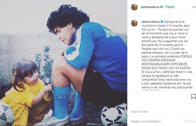 Murió Diego Maradona, noticias: Esta fue la emotiva reflexión de su hija Dalma en redes sociales | NCZD | FUTBOL-INTERNACIONAL | DEPOR