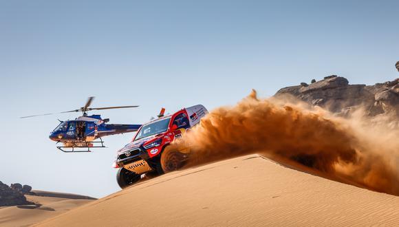 Nasser Al-Attiyah ganó la Etapa 11 del Dakar 2021 entre Al-Ula y Yanbu. (Dakar)
